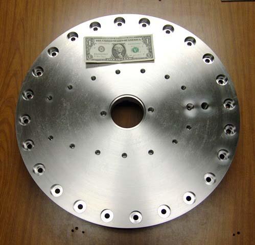 "Titanium Baseplate / 21\"" Diameter w\' 117 tapped holes"